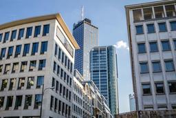 The skyline of Frankfurt city , Germany - Europe Fotografía