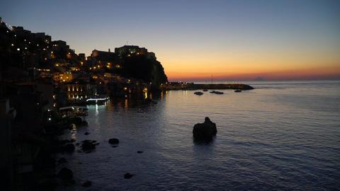 Sea evening romantic sunset water Stock Video Footage