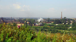 Alapaevsky Metallurgical Plant pollutes environment of small city of Ural Footage