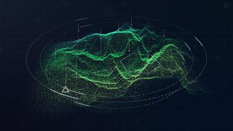 Hi Tech User Interface Head Up Display Digital Terrain Animation