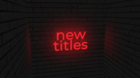 Neon Sign Titles And Glitch Titles Pack 0