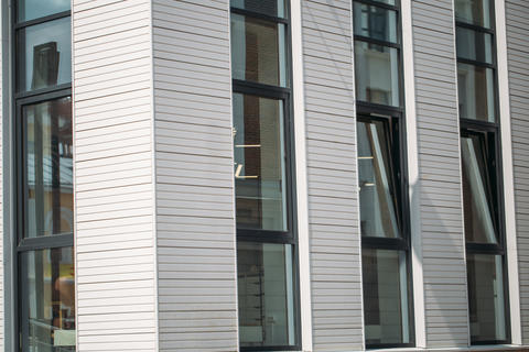white modern building i office building with panorama windows フォト