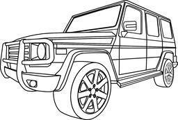 Offroad car Vector