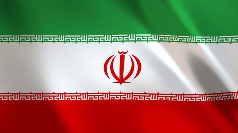 Iran Flag waving Animation