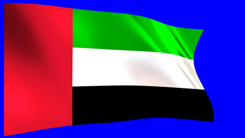United Arab Emirates Flag waving Animation