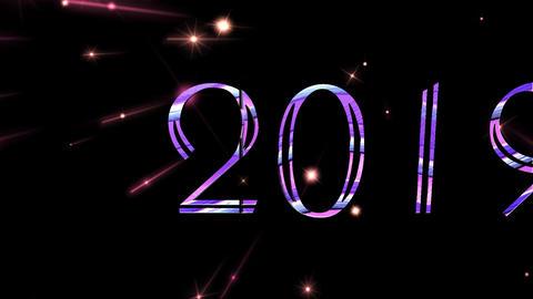2018 2019 with Black Background 애니메이션