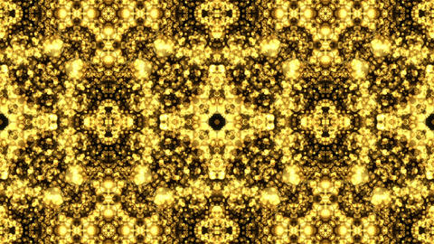 Gold Background Glow Shimmer Abstract Kaleidoscope Animation