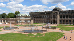 Zwinger palace - famous historic building in Dresden, Germany Live Action