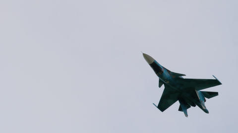 Sukhoi Su-34 Fullback during the demonstration flight Footage