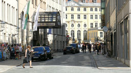 Dresden, Germany. Street in the old town. Daily life Footage