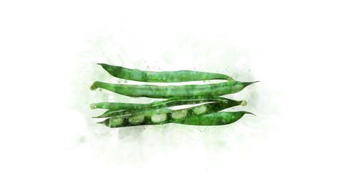 Green beans are animated Animation