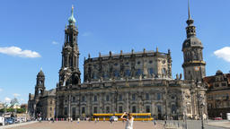 Dresden, Germany. Hofkirche (Cathedral of the Holy Trinity) Footage
