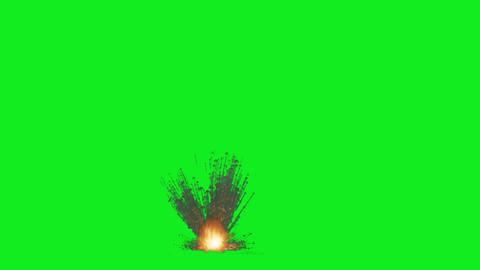 Big Explosion(Green Back) HD 01, Stock Animation