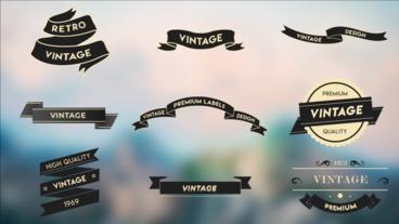 Vintage Label Pack モーショングラフィックステンプレート