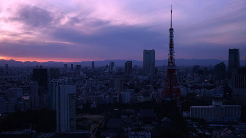 도쿄타워 타임랩스 영상물