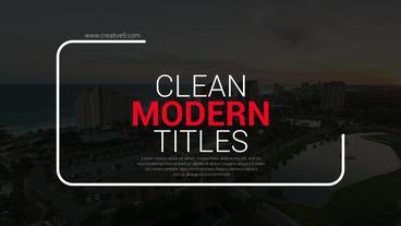 Modern Big Titles Plantilla de After Effects