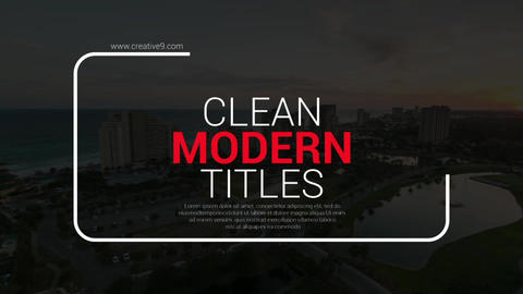 Modern Big Titles After Effectsテンプレート