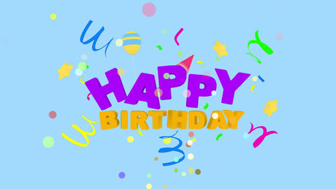 Happy Birthday by ACpixl text Animation