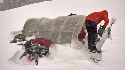 Climber Camping Archivo