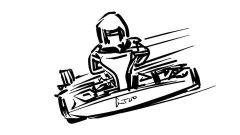 Go-kart movement Animation