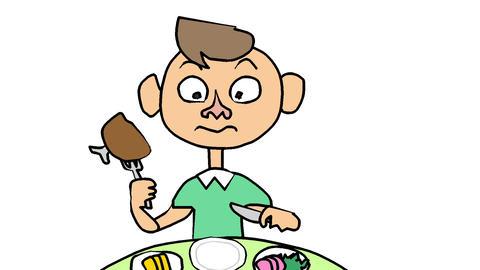 コミカルな食事シーン CG動画