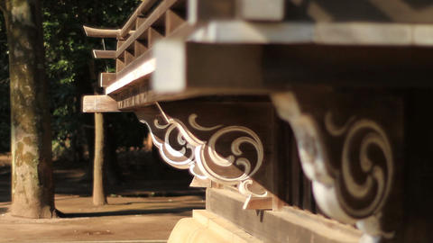 Hikawa shrine sub temple veranda shallow focus back focus in Nerima Live Action