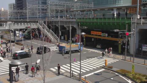 Intersection near the station north side at Akihabara ビデオ