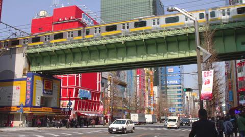 Underpass behind sega tower south side at Akihabara ビデオ