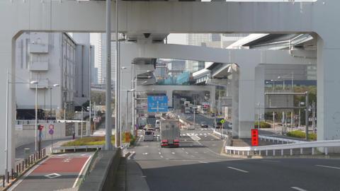 Under hinghway at Harumi st ビデオ