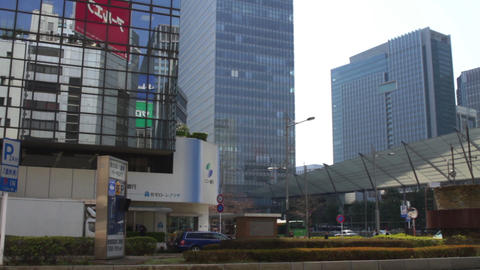 Buildings wide shot near Tokyo station east side at Tokyo ビデオ