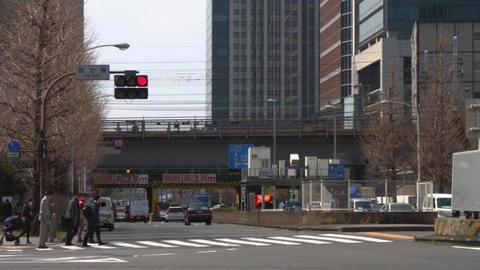 Kajibashi street near Tokyo station east side middle shot at Tokyo ビデオ