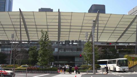Tokyo station east side wide shot at Tokyo ビデオ