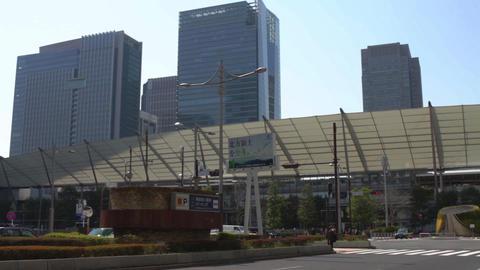 Tokyo station wide shot behind building east side at Tokyo ビデオ