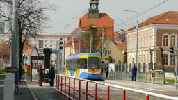 Kosice, Slovakia. Public transportation. Daily life scene Footage