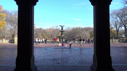 POV Walking to Bethesda Fountain Footage