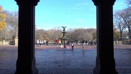 POV Walking to Bethesda Fountain Footage