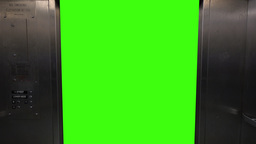Green Screen Elevator Doors Open and Close Footage