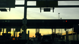 Driving Through Turnpike Toll Booth Footage