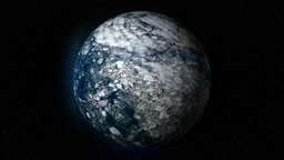 Fictional Frozen Ice Planet In Space stock footage