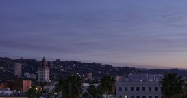 Beverly Hills Sunrise Timelapse Footage