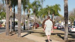 West Hollywood Establishing Shot stock footage
