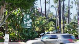 The Beverly Hills Hotel Entrance Establishing Shot Footage