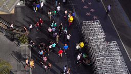 High Angle Tourists in Hollywood Footage