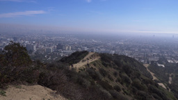 View of Los Angeles Valley from Runyon Canyon Footage