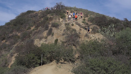 Hikers And Walkers Enjoying Runyon Canyon State Park stock footage