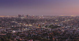 Looping Los Angeles Dusk Traffic Timelapse Footage