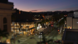 Tilt Shift Night Timelapse Rodeo Drive Footage