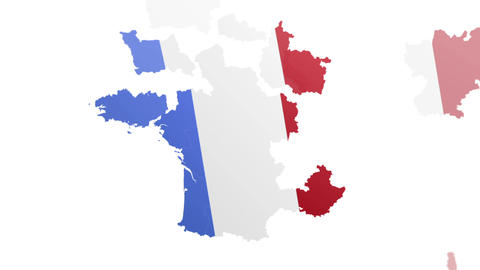 Map France States stock footage