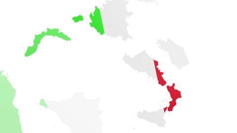 Map ITA States stock footage