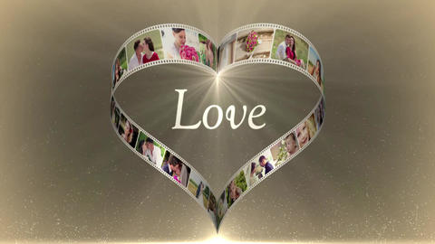 Heart Film Love After Effects Template
